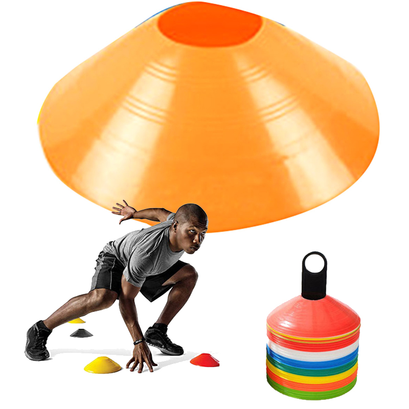 10pcs/lot disc cones marker soccer football agility training tools sports entertainment accessories skating outdoor activities