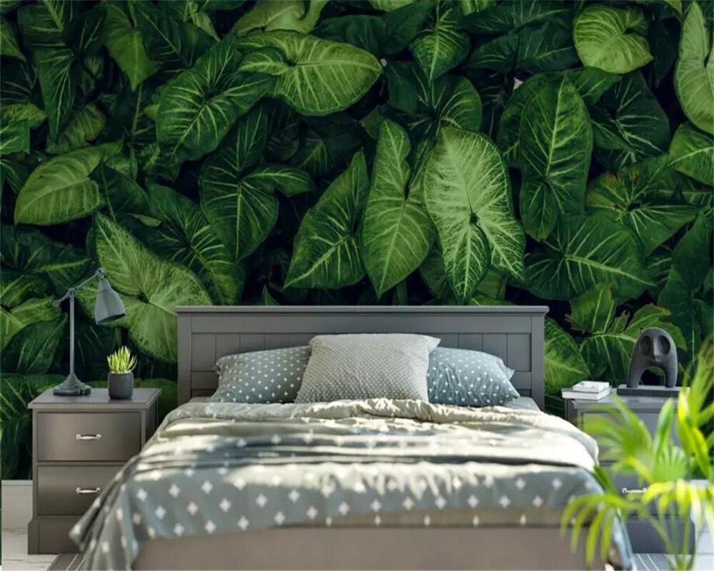 Us 885 41 Offbeibehang Custom Grote Wallpaper 3d Verse Groene Tropische Regenwoud Bladeren Volledige Winkel Tv Achtergrond Muur Woonkamer 3d
