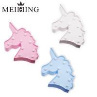 MEIDDING 1pcs Unicornio 3D Unicorn Head Led Night Light Kids Unicorn Party Birthday Gifts Baby Shower