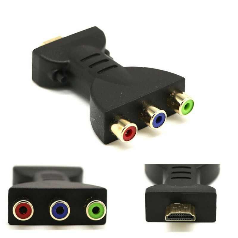 Convertidor de componentes de Adaptador de Audio y vídeo HDMI macho a 3 RCA para proyector de DVD HDTV compatible con pantalla de visualización en 3D Ethernet