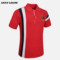 LUCKY SAILING Men S Brand T Shirt 2016 New Men Golf Polo Cotton Tops Tees Short