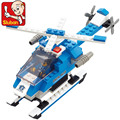 Free shipping educational toy 3d plastic city police plane model building Kits assembled block children creative gift 1 pc a lot