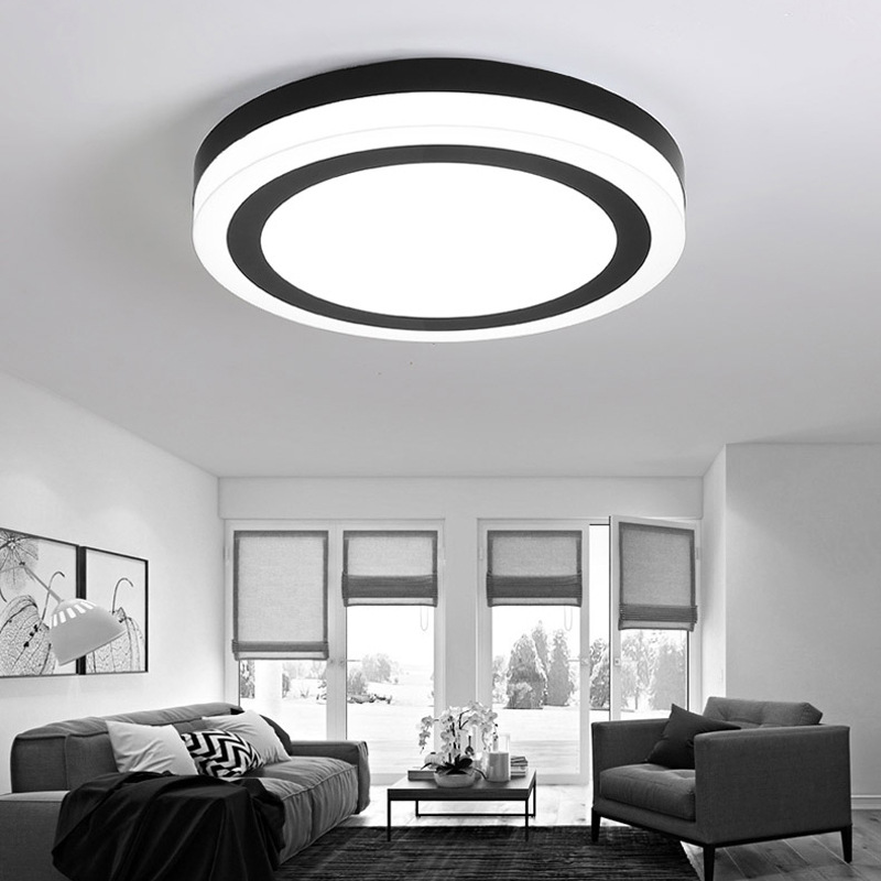 Modern Ceiling Lamp led Black and White Round Ceiling Light For Living Room Bedroom Kitchen Fixture Indoor Home Lighting living room ceiling lamp for indoor home lighting bedroom kitchen light fixture dimer luminarias led ceiling led lights for home