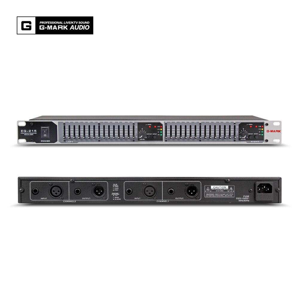Professionelle Audio-aufnahme Systematisch G-mark Eq215 Professionelle Equalizer Bühne Analog Stereo Eq Audio Signal Prozessor