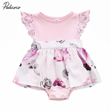 Фотография Cute Toddler Kids Girl Newborn Baby Sisters Floral Dress Romper Sundress Clothes Family Matching Clothing Set