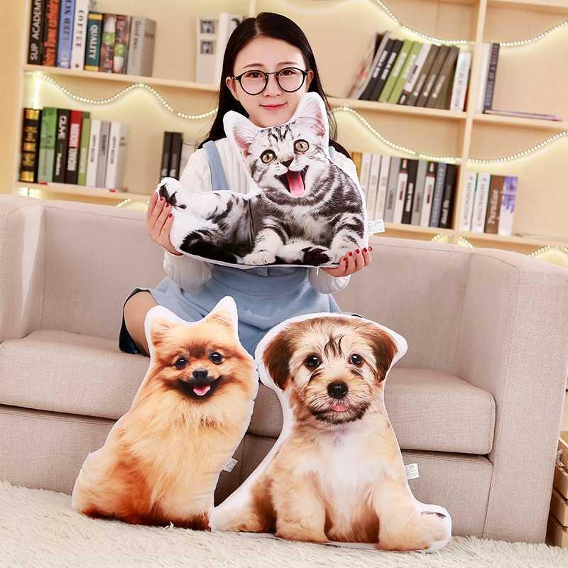 Sıcak 1 adet Yeni Simülasyon Hayvan Köpek Peluş Yastık Dolması Yumuşak karikatür oyuncaklar Güzel Şekerleme kanepe yastığı Ev Dekor Çocuk noel hediyesi