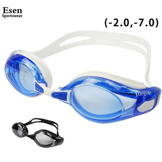 f8aebdd63ea -2.0 ~ -7.0 Myopia Swimming Goggles Adults Children Professional  Nearsighted Swim Eyewear Anti fog Waterproof Adjustable Glasses