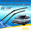 "Wiper Blades For MERCEDES BENZS SPRINTER W906 (2006- )2008 2009 2010 2011 Windscreen Windshield Wiper Blade 26""+24"" Cars styling"