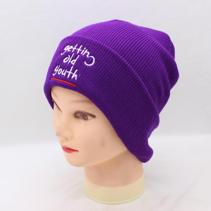1eada4143a8 Detail Feedback Questions about BING YUAN HAO XUAN Winter Warm Beanie Women  New Purple Embroidery Turban Knitted Hats Ski Hat Crochet Cap Gorros  Accessories ...