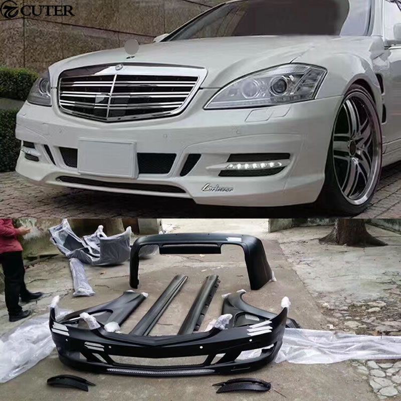Car Body Kits >> Us 1943 99 28 Off W221 S300 S350 Car Body Kit Frp Unpainted Front Rear Bumper Side Skirts For Mercedes Benz W221 Lorinser Body Kit 11 13 In Body