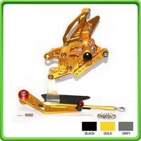 ЧПУ Регулируемые Rearsets сзади комплект одежды ног колышки педаль для Honda CBR 1000 RR CBR1000RR Fireblade 2008 2009 2010 2011 золото