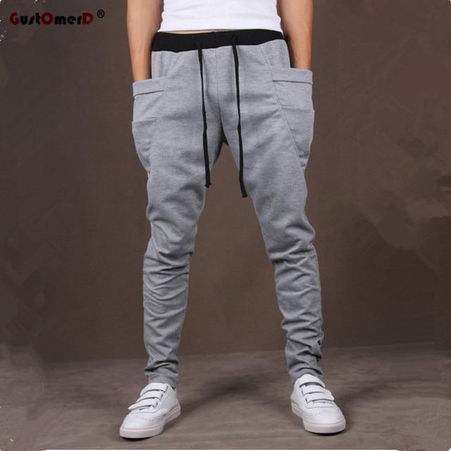 d1c8931d8 8 Colors 2017 Unique Pocket Mens Joggers Cargo Men Pants Sweatpants Harem  Pants Men Jogger Pants
