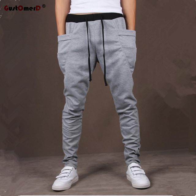 8 Colors 2017 Unique Pocket Mens Joggers Cargo Men Pants Sweatpants Harem Pants Men Jogger Pants Men Pantalones Hombre
