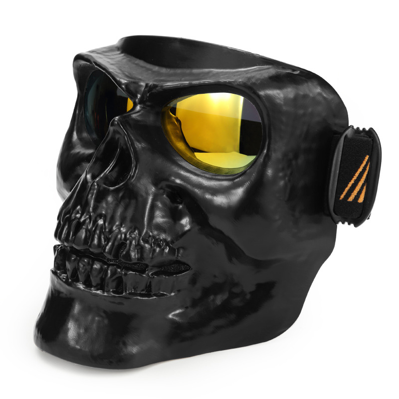 New Motorcycle Mask Goggles Men Women Cross Country Riding Racing Windproof Goggles Personality Skull Goggles For Unisex wanke wk 11 outdoor motorcycle riding cool windproof goggles black transparent