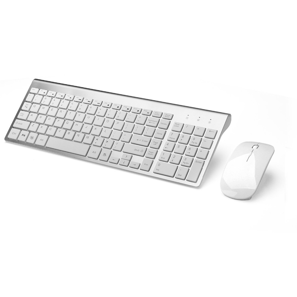 Russian Spanish Sticker 2.4G Wireless Keyboard and Mouse Combo 102 Key Low-Noise Keyboard Mouse for Mac Pc WindowsXP/7/10 Tv Box комплект клавиатура мышь lenovo professional wireless keyboard and mouse combo 4x30h56821 4x30h56821