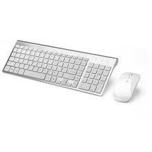 Russian Spanish Sticker 2 4G Wireless font b Keyboard b font and Mouse Combo 102 Key
