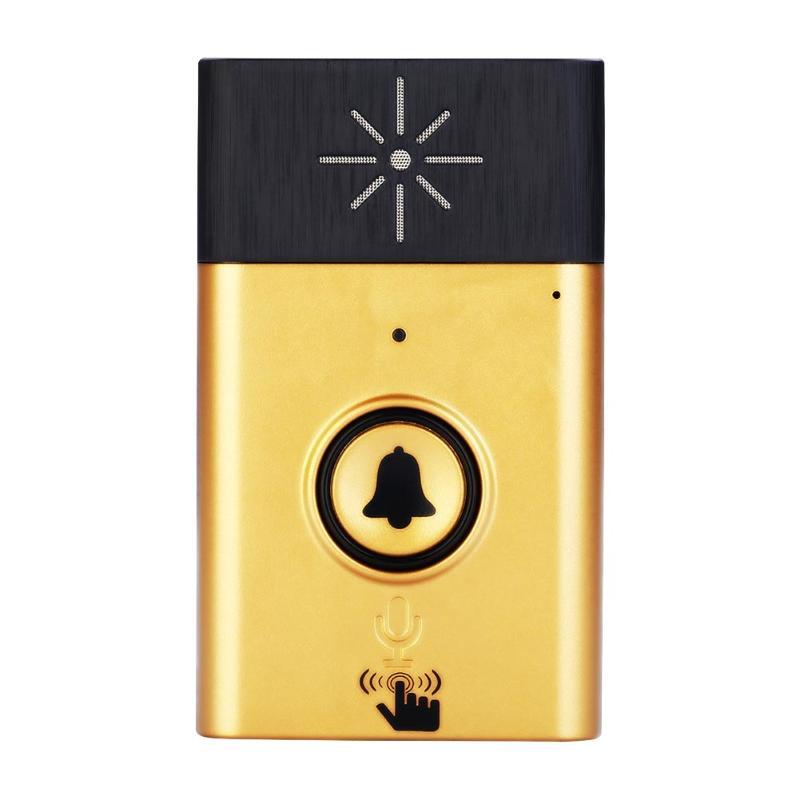300m 2.4G Wireless Doorbell With Voice Intercom Intelligent Mobile Interphone 300M Control Outdoor Transmitter + Indoor Receive new intelligent battery wireless doorbell with voice intercom 300m distance outdoor transmitter indoor receiver lo