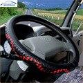 Lkw Bus Auto Lenkrad Abdeckung Durchmessern für 36 38 40 42 45 47 50CM 7 Größen zu Wählen carbon Faser Schwarz Rot Dynamische