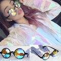 Drop Shipping Holographic sunglass Retro Round Uniron Sunglasses Women Designer Eyewear Kaleidoscope lens Glasses oculos de sol