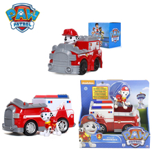 Paw Patrol Marshall Cars Fire Truck Genuine Patrulla Canina PVC Doll Action Figure Model Toy Kids Birthday Gift Boys