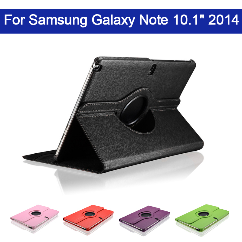 360 Rotating PU Leather Cover Case For Samsung Galaxy Note 10.1 2014 Edition With Stand Function SM-P600 SM-P601 Tablet Cover