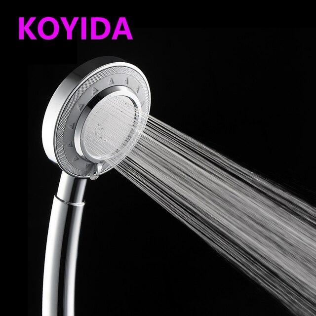 KOYIDA Hand hold Shower Head High Pressure Chrome Rainfall ...