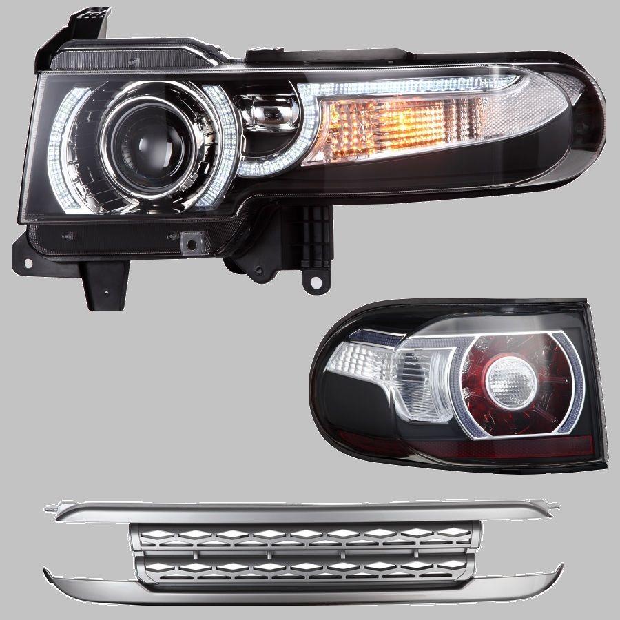 Neueste LED DRL Projektor Scheinwerfer s /& Rückleuchten /& Grille s Für Toyota FJ Cruiser 2007-2014 Dual strahl