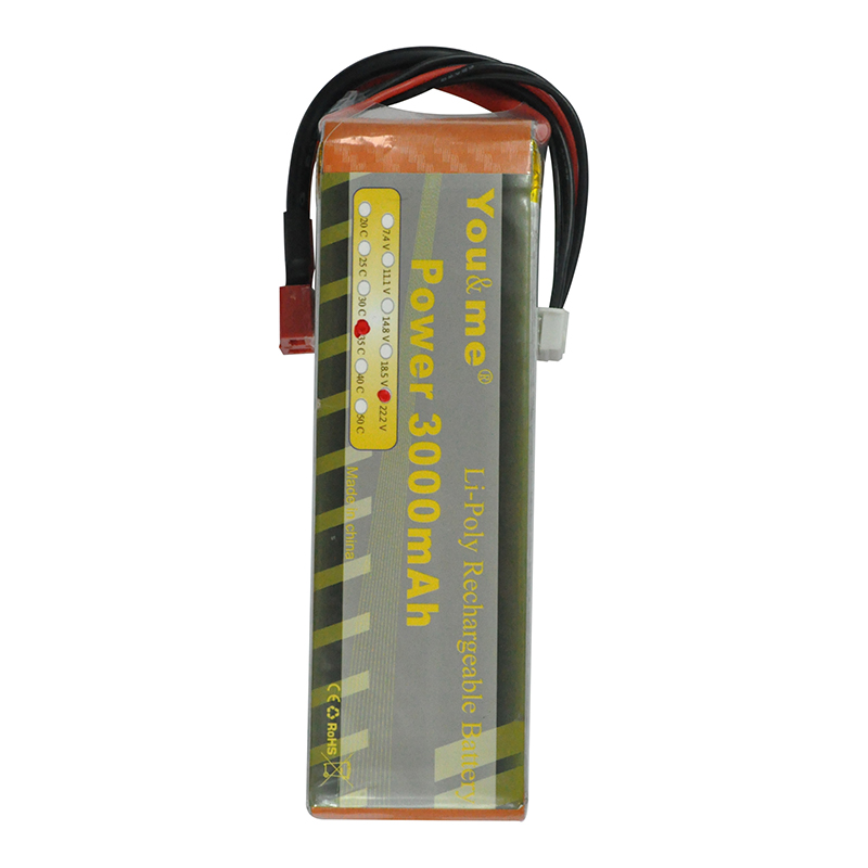 You me LiPo font b RC b font Battery 22 2V 3000MAH 35C 6S AKKU For