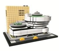 Solomon R Guggenheim Museum BELA Architecture Building Blocks Sets City Bricks Classic Model Kids Toys Compatible