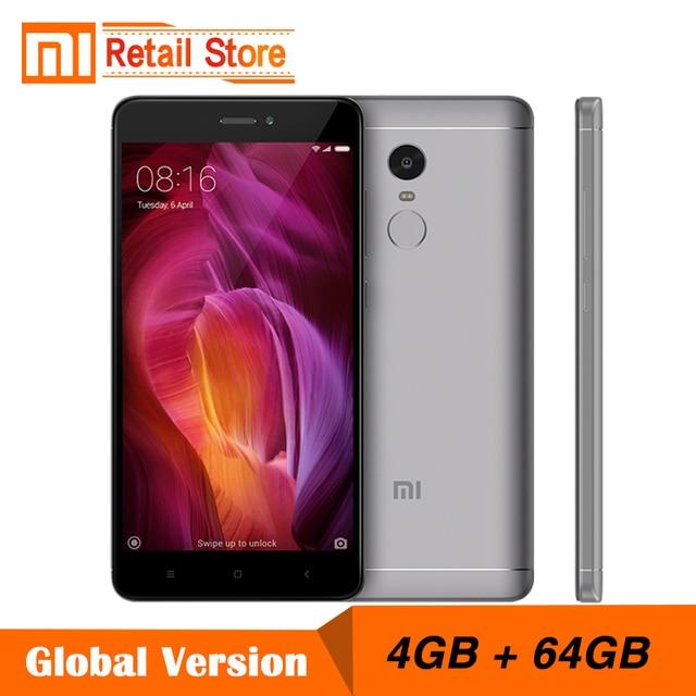 """Глобальная версия Xiaomi Redmi Note 4 4 ГБ 64 ГБ Snapdragon 625 Octa core Процессор смартфон 5.5 """"13.0MP 4100 мАч отпечатков пальцев B20"""