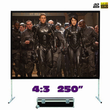 Fast Fold Projector Screen 250 inches 4:3 Quick Folding Front Projection Screen for Outdoor Concerts, Exhibitions, Cinema