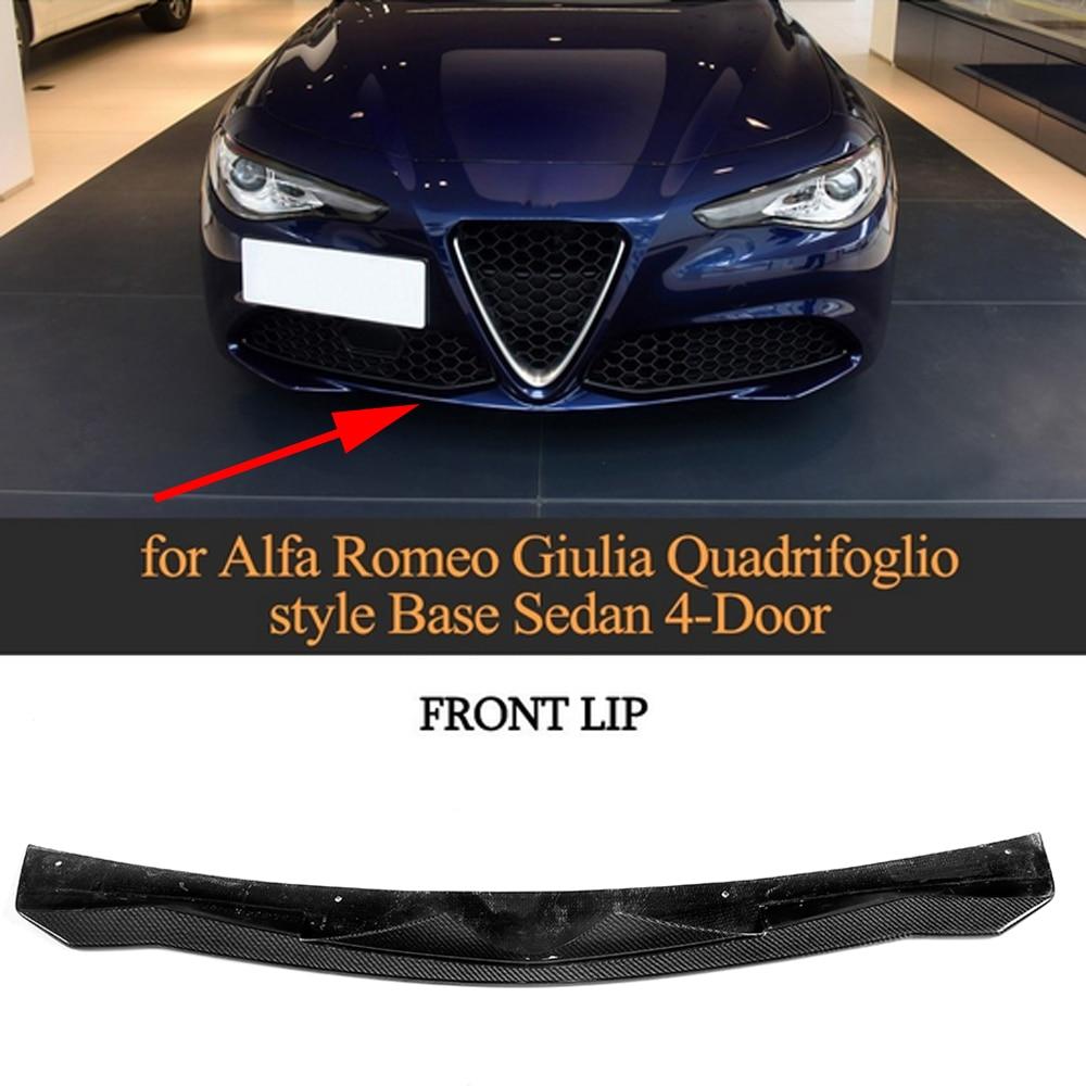 Carbon Fiber Front Bumper Lip For Alfa Romeo Giulia