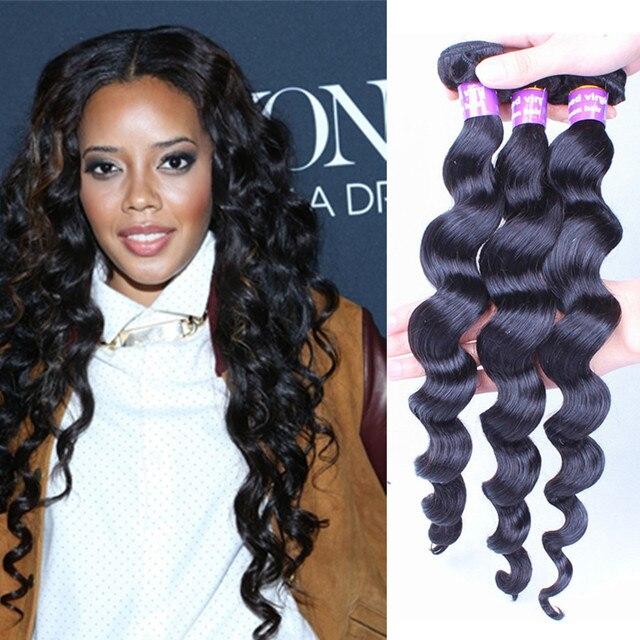 Filipino Virgin Hair Loose Wave Human Virgin Hair Extensions 3pcs