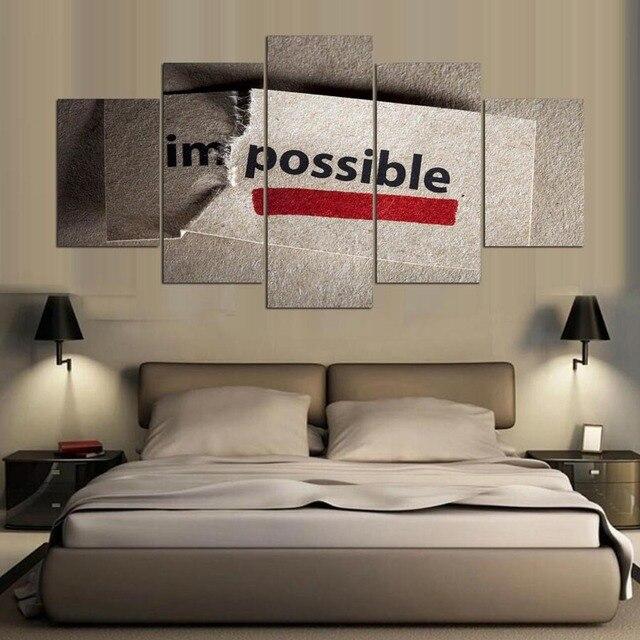 5 panel Moderna hd motivación Arte impresión de la lona arte de la ...