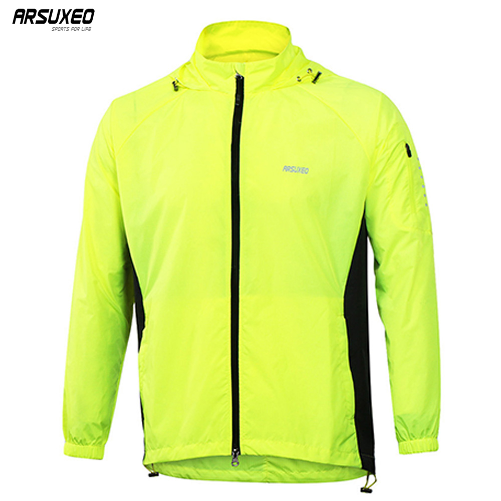ARSUXEO Men's Outdoor Sports Running Jacket Windproof Waterproof Pack Cycling Jacket Bike Bicycle Clothing coat clothes M17C1 arsuxeo outdoor sports cycling jerseys mtb bike bicycle running jacket men waterproof windproof long sleeve wind coat clothing