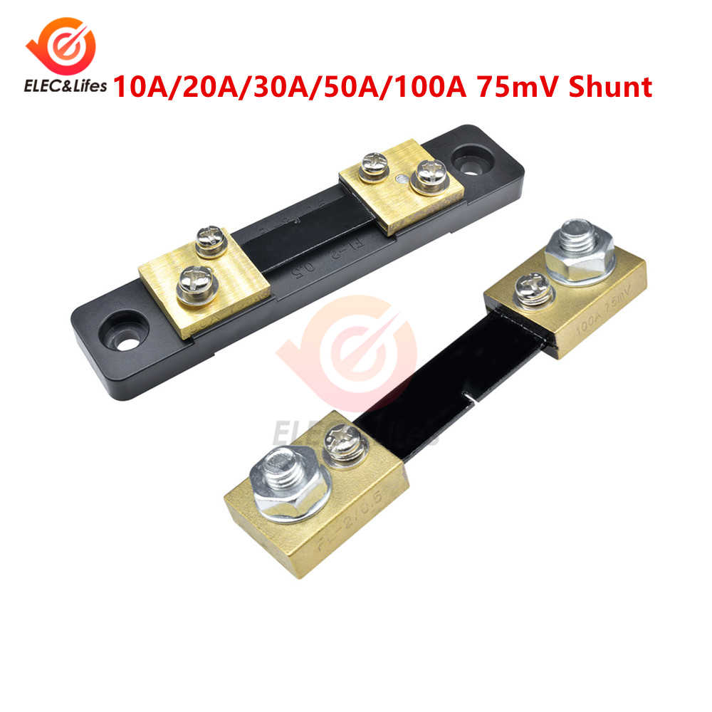 1Pcs External Shunt FL-2 100A 50A 30A 20A 10A /75mV Current Meter Shunt 50A/75mV 100A/75mV AMP for Digital Voltmeter Ammeter