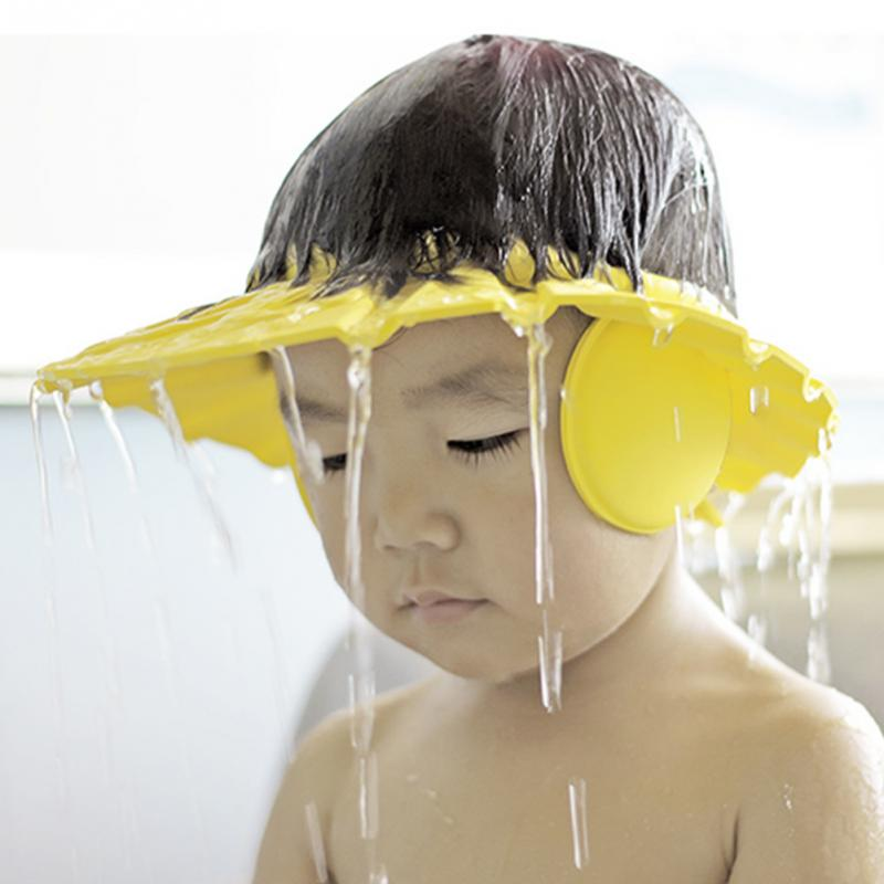 Children Waterproof Cap Adjustable Soft Baby Shower Bath For Kids Head Baby Shower Child Bathing Cap Visor Hat Protect Eyes Hair
