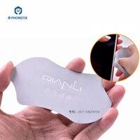 PHONEFIX-Hoja de apertura de pantalla LCD de acero inoxidable para teléfono móvil, tarjeta fina abierta para herramientas de reparación de pantalla de Smartphone, 0,1mm