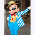2017 nueva venta loca para mickey mouse traje de la mascota de tamaño adulto fancy dress de halloween