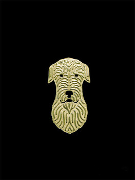 Trendy cute Irish Wolfhound vintage brooches plated silver plated men brooches fashion jewelry hand of king image
