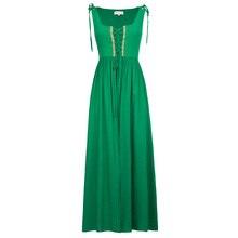 Belle poque средневековой платье без рукавов Макси платья в викторианском стиле готический панк Винтаж Рождество майка длинное платье женские 2018 Новый
