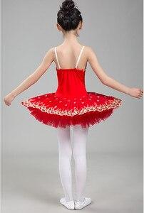 Image 5 - 2020 new Professional Ballet Tutu Child Swan Lake Costume White Red Blue Ballet Dress for Children Pancake Tutu Girls Dancewear