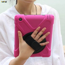 Купить с кэшбэком For Apple iPad Air 2 Case Shockproof Hybrid Armor Shell Heavy Duty Tablet Case for iPad 6 Tablet Cover