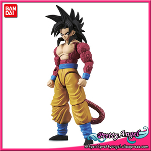 Image 1 - PrettyAngel oryginalne Bandai rysunek wzrost standardowy montaż Dragon Ball GT Super Saiyan 4 Son Goku plastikowy Model figurka