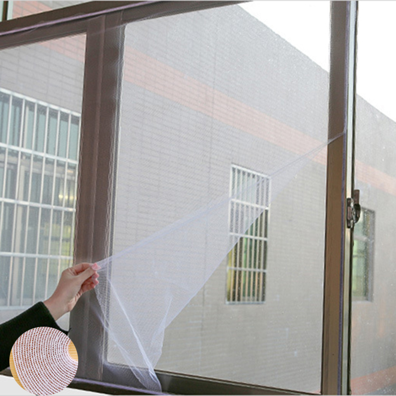 New Style 160x130cm Self-adhesive Door Screen Curtain Protect Mesh Screen Anti-Mosquito Invisible Simple For Kitchen Window Net