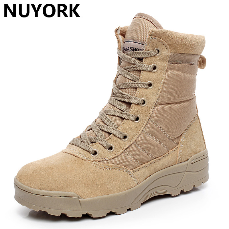 NUYORK 2018 New Winter army boot safty Hiking men boots special force tactical desert combat men military tactical Shoes