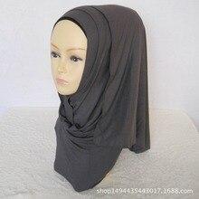 8 цветов высокого качества Джерси-шарф трикотажная шаль мусульманский хиджаб шарф Макси сплошной хиджаб шарф 170*50 см