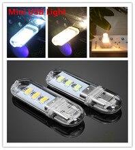 Portable 3SMD 5V 1.5W Mini USB LED Reading Desk Light Camping outdoor Hiking Night Light Shining light for Power bank comupter