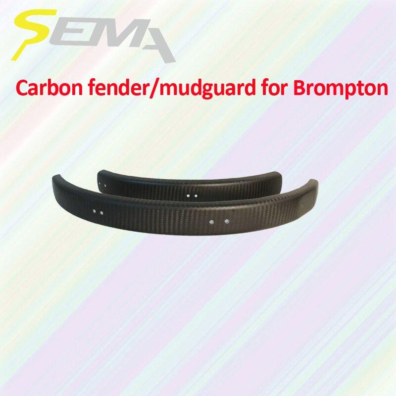 SEMA marques garde-boue en carbone pour jantes de vélo brompton 16 pouces meilleure qualité une paire de garde-boue en Fiber de carbone Durable