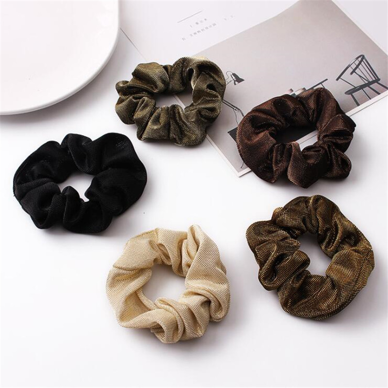Colored Satin Hair Ring Scrunchie Women Lady Girls Elastic Hair Rubber Bands Ponytail Holder Hair Ornament Accessories Headdress in Women 39 s Hair Accessories from Apparel Accessories